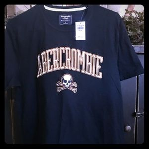 Abercrombie and Fitch Men's T-Shirt Medium-Navy